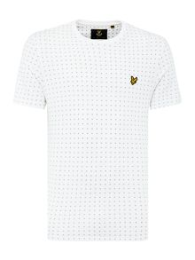 Lyle and Scott Square Dot Crew Neck Short Sleeve T Shirt