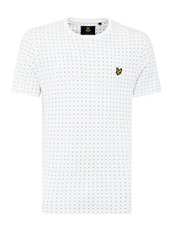 Square Dot Crew Neck Short Sleeve T Shirt