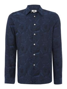 PS By Paul Smith Tailored fit rose print long sleeve shirt