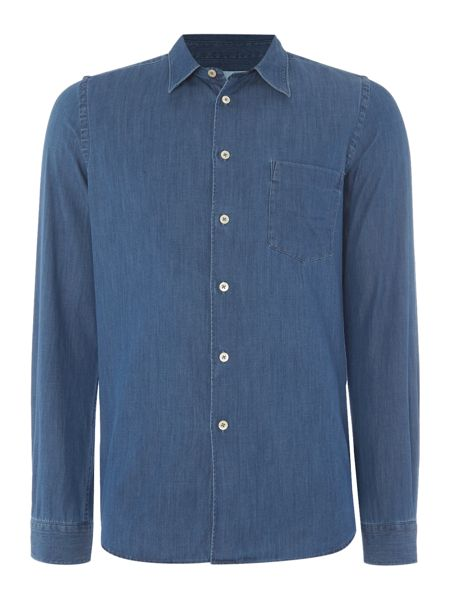PS By Paul Smith Tailored fit long sleeve chambray shirt