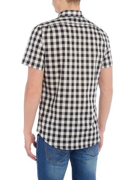 PS By Paul Smith Tailored fit short sleeve gingham shirt
