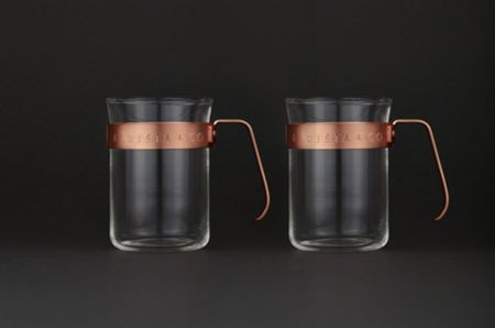 Barista & Co Metal Frame Cups, Electric Copper (set of two)