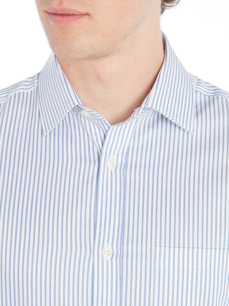 Howick Tailored Bennington bengal stripe shirt