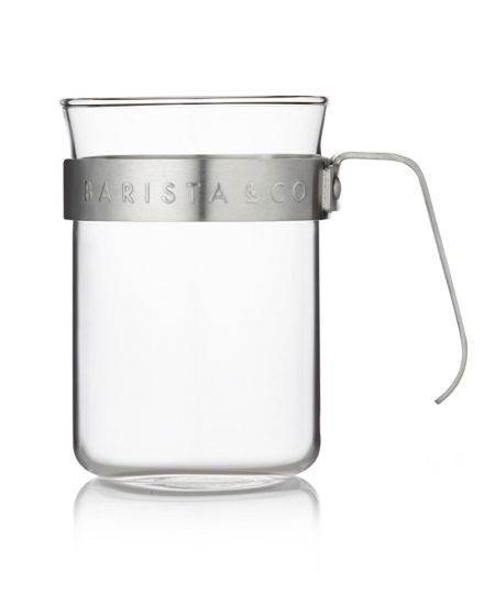 Barista & Co Metal Frame Cups, Electric Steel (set of two)