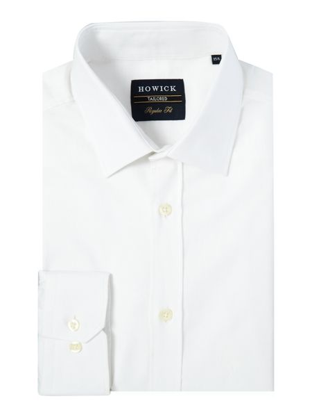 Howick Tailored Storrow textured dobby spot shirt