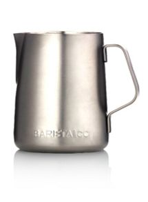 Barista & Co 12oz Milk Jug, Electric Steel