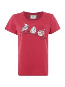 Dickins & Jones Beatrice Birds Jersey Top