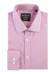Howick Tailored Cavington herringbone shirt