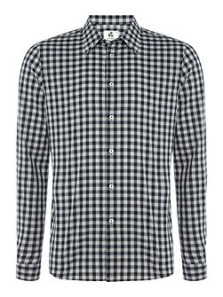 Tailored long sleeve check shirt
