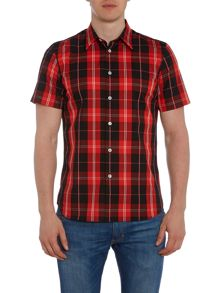 PS By Paul Smith Tailored fit large check short sleeve shirt