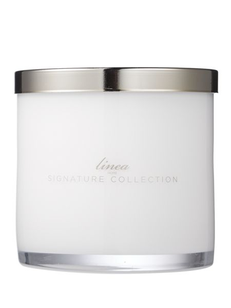 Linea White flowers & orange blossom large candle