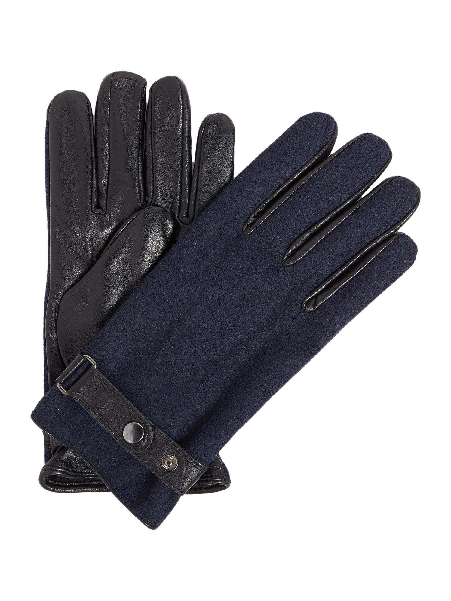 Click to view product details and reviews for Linea Melton Leather Glove Blue.
