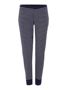 Dickins & Jones Navy Stripe Jersey Jogger Pant