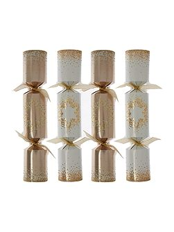 Pack of 10 Cream & Gold dotty star