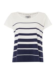 Dickins & Jones Navy Graduated Stripe Tee