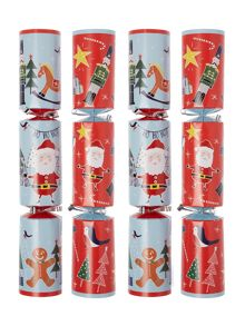 Linea Pack of 12 Frosty kids game crackers