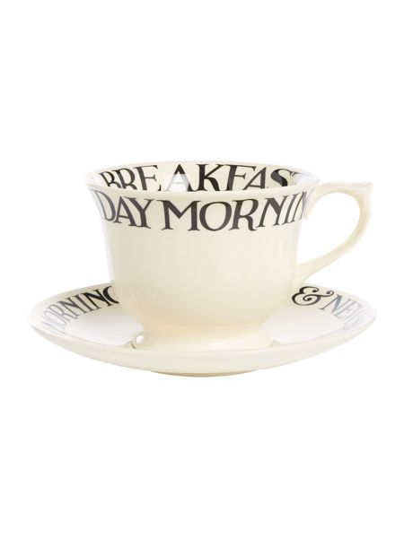 Emma Bridgewater Black Toast Large Teacup & Saucer