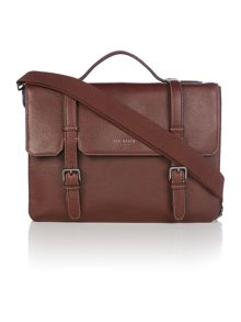 Ted Baker Flame Pebble Grain Leather Satchel