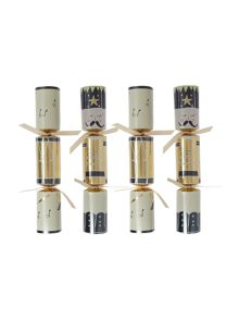 Linea Pack of 6 Gold family photo fun crackers