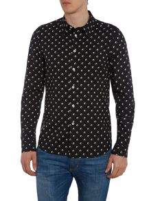 PS By Paul Smith Tailored fit logo print long sleeve shirt