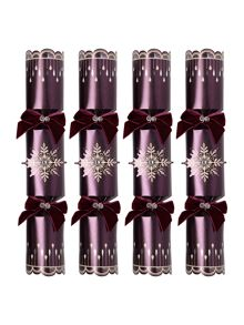 Linea Pack of 6 Purple Snowflake Crackers