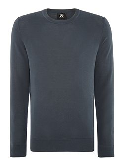 Regular fit fine knit crew neck jumper