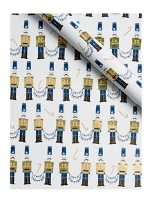 Linea Gold Nutcracker Wrapping Paper