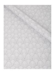 Linea Art deco wrapping paper in silver glitter