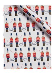 Linea Red Nutcracker Wrapping Paper