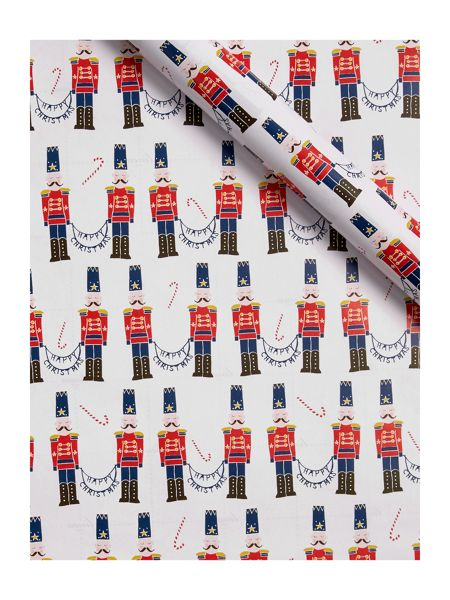 Linea Red Nutcracker 3m Wrapping Paper