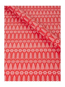 Linea Red Fair Isle Wrapping Paper