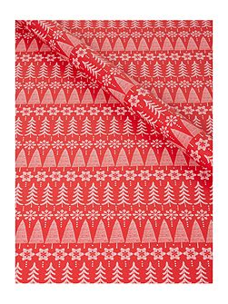 Red Fair Isle 3m Wrapping Paper