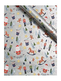 Frosty Character 3m wrapping paper