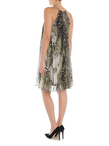 Episode Sleeveless printed tapize dress