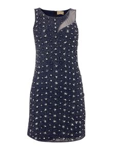 Lace and Beads All Over Embellished Bodycon Dress