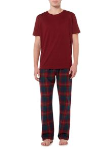 Howick Burgundy check pyjama set