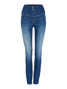 Salsa Diva slimming skinny jean in denim mid wash