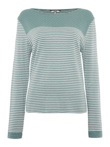 Dickins & Jones Spot Stripe Top