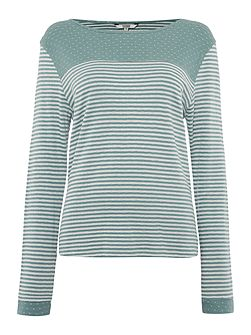 Spot Stripe Top