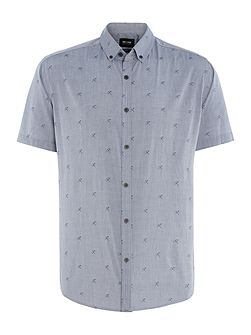 All Over Umbrella Print Short Sleeve Shirt