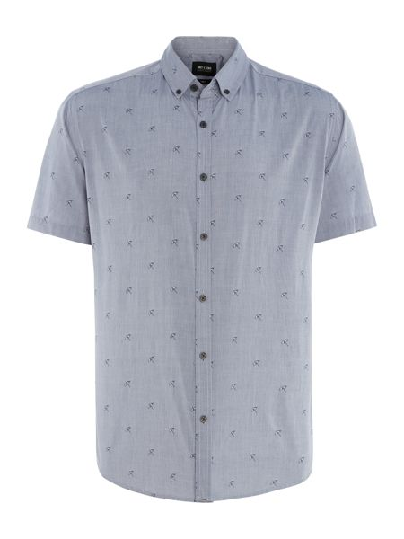 Only & Sons All Over Umbrella Print Short Sleeve Shirt