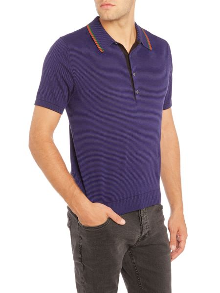 PS By Paul Smith Regular fit knitted stripe polo