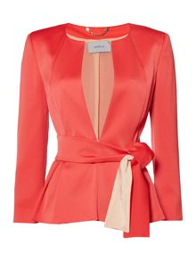 Marella Cupola long sleeve jacket with tie waist