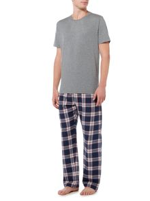 Howick Navy check pyjama set