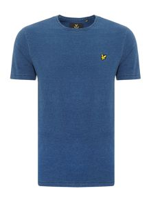 Lyle and Scott Indigo Wash Crew Neck Short Sleeve T Shirt