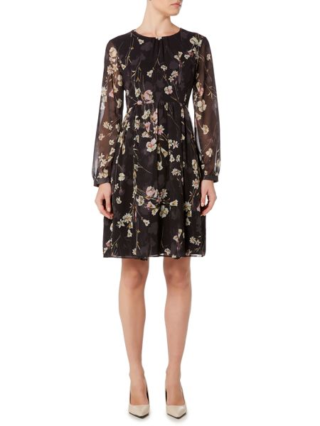 Marella Necton long sleeve floral print dress