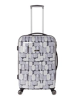 Explore 8 wheel hard medium suitcase