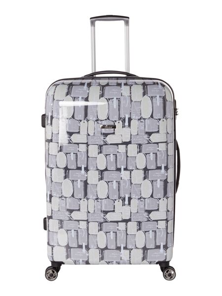 Linea Explore 8 wheel hard large suitcase