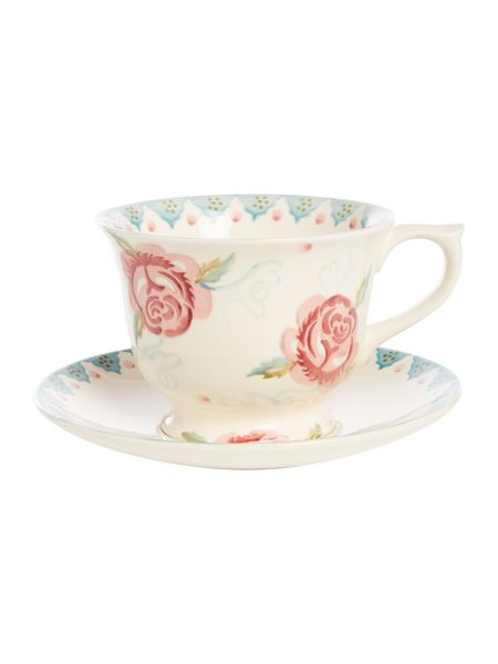 Emma Bridgewater Rose & Bee Large Teacup & Saucer Boxed