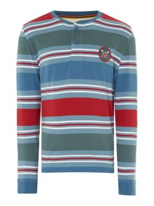 Howick Junior Boys Multistripe Henley t-shirt